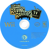 Rayman Raving Rabbids TV Party Wii disc (RY3E41)