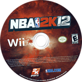 NBA 2K12 Wii disc (S2QE54)