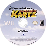 DreamWorks Super Star Kartz Wii disc (SKZE52)