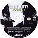 Call of Duty: Modern Warfare 3 Wii disc (SM8E52)