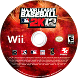 Major League Baseball 2K12 Wii disc (SM9E54)
