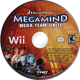 Megamind: Mega Team Unite Wii disc (SMGE78)