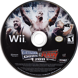 WWE SmackDown vs. Raw 2011 Wii disc (SMRE78)