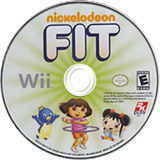 Nickelodeon Fit Wii disc (SN9E54)