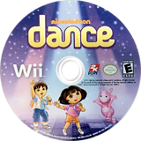 Nickelodeon Dance Wii disc (SNLE54)