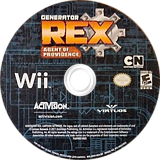 Generator Rex: Agent of Providence Wii disc (SRXE52)