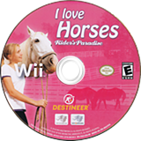 I Love Horses: Rider's Paradise Wii disc (SSLENR)