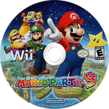 Mario Party 9 Wii disc (SSQE01)