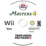 Tiger Woods PGA Tour 12: The Masters Wii disc (STXE69)