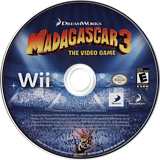 Madagascar 3: The Video Game Wii disc (SV3EG9)