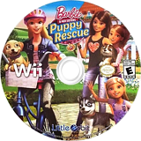 Barbie and Her Sisters: Puppy Rescue Wii disc (SVQEVZ)