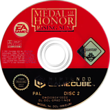 Medal of Honor: Rising Sun GameCube disc (GR8D69)