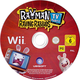 Rayman Raving Rabbids: TV Party Wii disc (RY3P41)