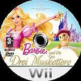 Barbie und Die Drei Musketiere Wii disc (R23P52)