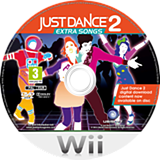 Just Dance 2: Extra Songs Wii disc (SJ9P41)