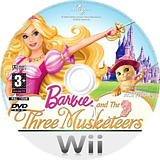 Barbie and the Three Musketeers Wii disc (R23P52)