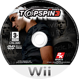 Top Spin 3 Wii disc (R3TP54)