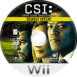 CSI: Deadly Intent Wii disc (R5UP41)