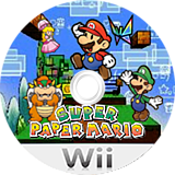 Super Paper Mario Wii disc (R8PP01)