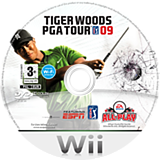 Tiger Woods PGA Tour 09 All-Play Wii disc (R9TP69)