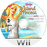 Barbie as The Island Princess Wii disc (RBVP52)