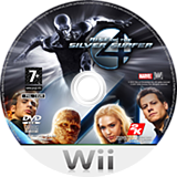 Fantastic Four: Rise of the Silver Surfer Wii disc (RF2P54)