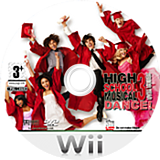 High School Musical 3: Senior Year Dance! Wii disc (RH3P4Q)