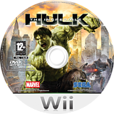 The Incredible Hulk Wii disc (RIHP8P)