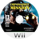 Impossible Mission Wii disc (RIMP6M)