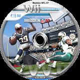 Madden NFL 07 Wii disc (RMDP69)