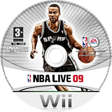 NBA Live 09 All-Play Wii disc (RQ9F69)