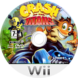 Crash of the Titans Wii disc (RQJP7D)