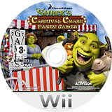 Shrek's Carnival Craze Party Games Wii disc (RRQX52)