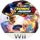 Sonic Riders: Zero Gravity Wii disc (RS9P8P)