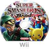 Super Smash Bros. Brawl Wii disc (RSBP01)