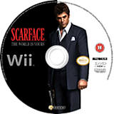 Scarface: The World Is Yours Wii disc (RSCP7D)
