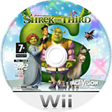 Shrek The Third Wii disc (RSKP52)
