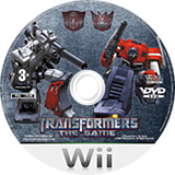 Transformers: The Game Wii disc (RTFY52)