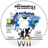 Disney Epic Mickey 2: The Power of Two Wii disc (SERF4Q)