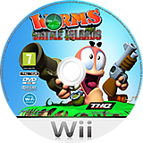 Worms Battle Islands Wii disc (SILP78)