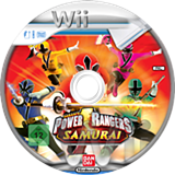 Power Rangers Samurai Wii disc (SM5PAF)