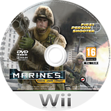 Marines:Modern Urban Combat Wii disc (SMAPGN)