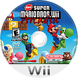 New Super Mario Bros. Wii Arcadia CUSTOM disc (SMNP77)