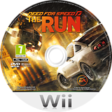 Need for Speed: The Run Wii disc (SNVP69)