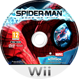 Spider-Man: Edge of Time Wii disc (SQMP52)