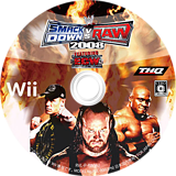 WWE 2008 SmackDown vs. Raw Wii disc (RWWJ78)