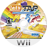 Let's Tap Wii disc (R2UE8P)