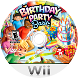 Birthday Party Bash Wii disc (R2YE54)