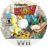 Neopets Puzzle Adventure Wii disc (R52E08)