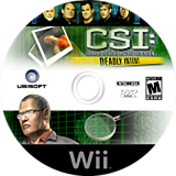 CSI: Deadly Intent Wii disc (R5UE41)